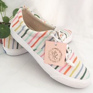 Keds Rifle Paper Co Anchor Happy Stripe Sneakers